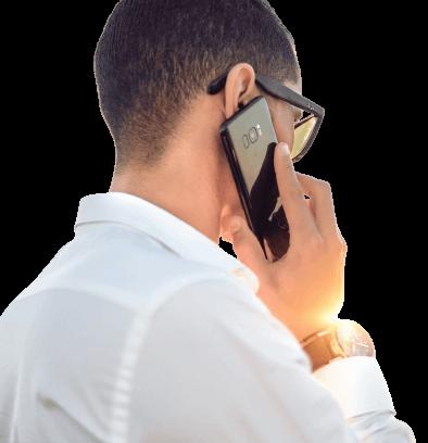 man-calling